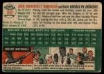 1954 Topps #10 WHT Jackie Robinson  Back Thumbnail