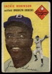 1954 Topps #10 WHT Jackie Robinson  Front Thumbnail