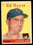 1958 Topps #461  Ed Mayer  Front Thumbnail