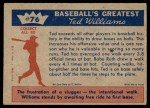 1959 Fleer #76   -  Ted Williams On Base Record Back Thumbnail
