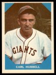 1960 Fleer #4  Carl Hubbell  Front Thumbnail