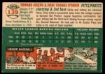 1954 Topps #139  Ed O'Brien / John O'Brien  Back Thumbnail