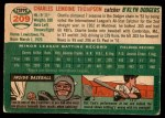1954 Topps #209  Charlie Thompson  Back Thumbnail
