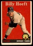 1958 Topps #13 WN Billy Hoeft  Front Thumbnail