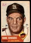 1953 Topps #90  Hank Edwards  Front Thumbnail