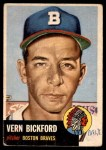 1953 Topps #161  Vern Bickford  Front Thumbnail