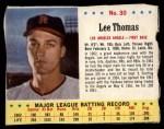 1963 Jello #30  Lee Thomas  Front Thumbnail