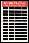 1970 Topps Scratch-Offs  Lou Piniella  Back Thumbnail