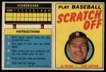 1970 Topps Scratch-Offs  Al Kaline      Front Thumbnail