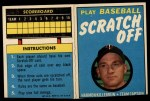 1970 Topps Scratch-Offs  Harmon Killebrew     Front Thumbnail