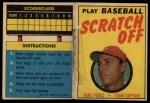 1970 Topps Scratch-Offs  Tony Perez  Front Thumbnail