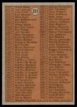 1972 Topps #251 LG  Checklist 3 Back Thumbnail