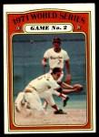 1972 Topps #224   -  Davey Johnson / Mark Belanger 1971 World Series - Game #2 Front Thumbnail