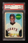 1969 O-Pee-Chee #190  Willie Mays  Front Thumbnail