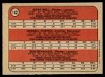 1972 O-Pee-Chee #162   -  Darrell Porter / Bob Reynolds /Jerry Bell Brewers Rookies   Back Thumbnail