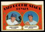 1972 O-Pee-Chee #372   -  Lance Clemons / Monty Montgomery Royals Rookies   Front Thumbnail