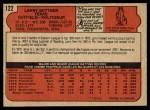 1972 O-Pee-Chee #122  Larry Biittner  Back Thumbnail