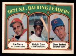 1972 O-Pee-Chee #85   -  Glenn Beckert / Ralph Garr / Joe Torre NL Batting Leaders   Front Thumbnail