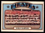 1972 O-Pee-Chee #1   Pirates Team Front Thumbnail