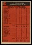 1972 O-Pee-Chee #224   -  Davey Johnson / Mark Belanger 1971 World Series - Game #2 Back Thumbnail