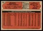 1972 O-Pee-Chee #220  Jim Perry  Back Thumbnail