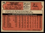 1972 O-Pee-Chee #288  Johnny Jeter  Back Thumbnail
