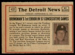1972 O-Pee-Chee #432   -  Cito Gaston In Action Back Thumbnail