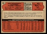 1972 O-Pee-Chee #160  Andy Messersmith  Back Thumbnail