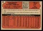 1972 O-Pee-Chee #45  Glenn Beckert  Back Thumbnail