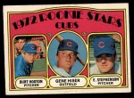 1972 O-Pee-Chee #61   -  Burt Hooton / Gene Hiser / Earl Stephenson Cubs Rookies   Front Thumbnail