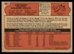 1972 O-Pee-Chee #484  Lum Harris  Back Thumbnail