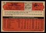 1972 O-Pee-Chee #216  Joe Niekro  Back Thumbnail