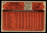 1972 O-Pee-Chee #253  Sandy Alomar  Back Thumbnail