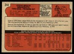 1972 O-Pee-Chee #244  Steve Braun  Back Thumbnail