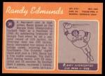 1970 Topps #34  Randy Edmunds  Back Thumbnail