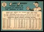 1965 Topps #420  Larry Jackson  Back Thumbnail