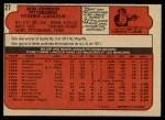 1972 O-Pee-Chee #27  Bob Johnson  Back Thumbnail