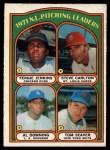 1972 O-Pee-Chee #93   -  Steve Carlton / Al Downing / Fergie Jenkins / Tom Seaver NL Pitching Leaders  Front Thumbnail