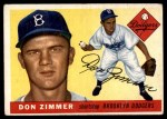 1955 Topps #92  Don Zimmer  Front Thumbnail