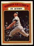 1972 O-Pee-Chee #52   -  Harmon Killebrew In Action Front Thumbnail