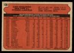 1972 O-Pee-Chee #108  Gary Waslewski  Back Thumbnail