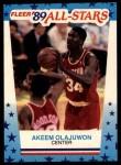 1989 Fleer Sticker #2  Akeem Olajuwon  Front Thumbnail