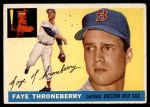 1955 Topps #163  Faye Throneberry  Front Thumbnail