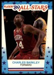1989 Fleer Sticker #4  Charles Barkley  Front Thumbnail