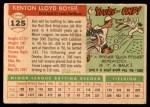 1955 Topps #125  Ken Boyer  Back Thumbnail