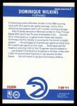 1987 Fleer Sticker #7  Dominique Wilkins  Back Thumbnail