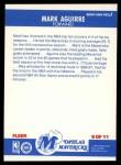 1987 Fleer Sticker #9  Mark Aguirre  Back Thumbnail