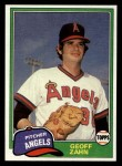 1981 Topps Traded #856 T Geoff Zahn  Front Thumbnail