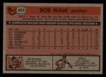 1981 Topps Traded #853 T Bob Walk  Back Thumbnail