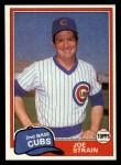 1981 Topps Traded #837 T Joe Strain  Front Thumbnail